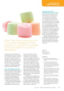 AICM journal article on overcoming distractions using marshmallows by Petris Lapis